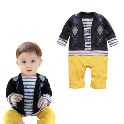>RM10 CORNER< Boy Suit Romper 11233