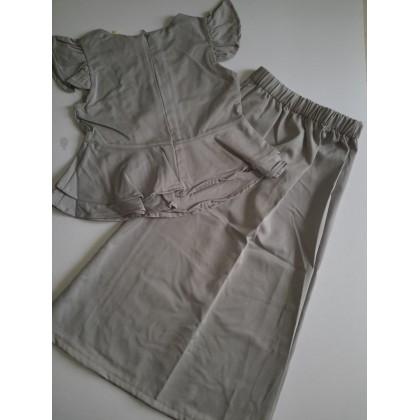 Peplum Sleeveless Kurung Design - (LNice) SIZE 1-6y