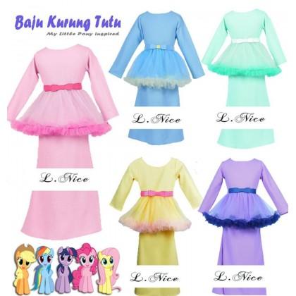 My Little Pony Inspired Baju Kurung Tutu (LNICE)  BABY