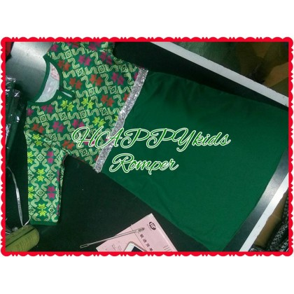 Songket Baby Girl Jubah Romper (Happykids)