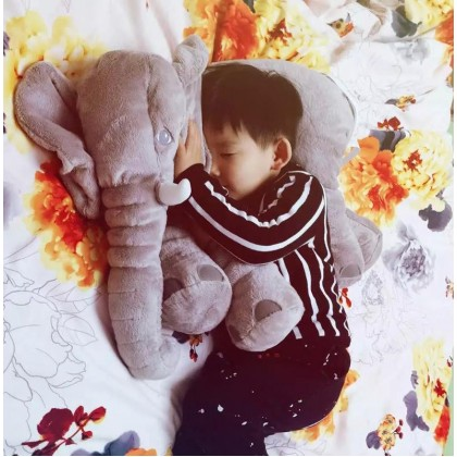 60CM Cute Elephant Plush Toy Pillow (Without Blanket)