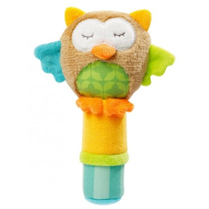 JJ OVCE Multi Function Cute Animal Soft Plush Hand Stick Baby Rattle  (READY STOCK)