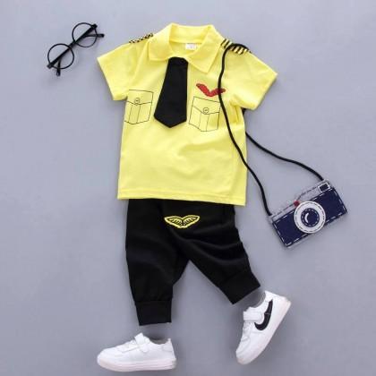 [READY STOCK] Mr Pilot Boy/Girl Top+Pant Set