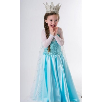 [READY STOCK] Princess Elsa Most Hot Frozen Blue Dress