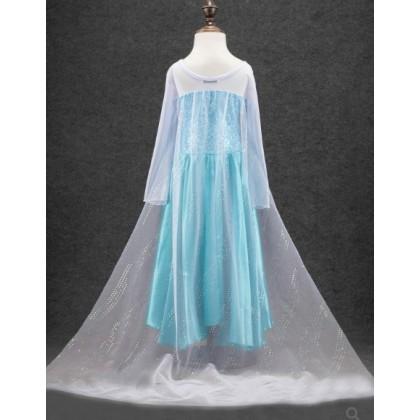 [READY STOCK] Princess Elsa Most Hot Frozen Blue Dress