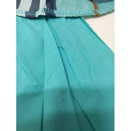 [READY STOCK] Burberry Inspired Baju Kurung (COOL ELVES) SIZE 1-12Y BLUE