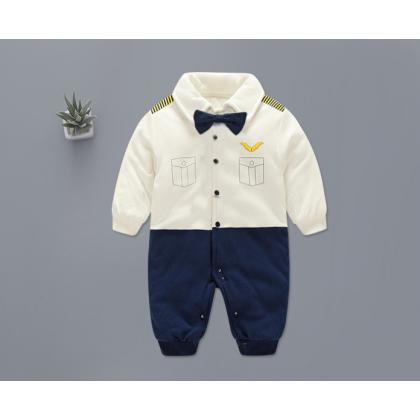 [READY STOCK] Baby Boy Mr Pilot Romper Long sleeves