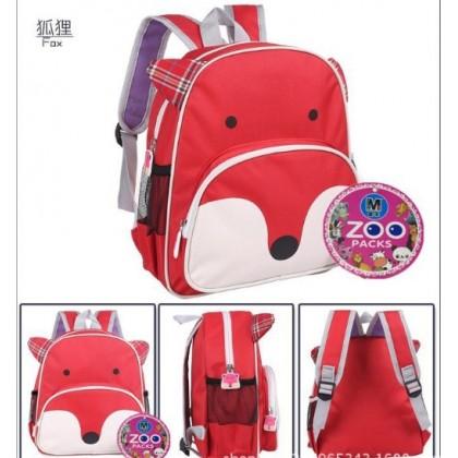 Kids Kindergarten Animal Zoo Packs Backpack Bag (12inch) [READY STOCK]