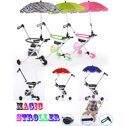 [READY STOCK] BATCH 12 Umbrella + Clip-On for Stroller   Bicycle