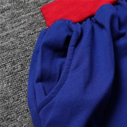 [READY STOCK] Kids Boy Costume SpiderMan Hoodie Coat + Pant Set