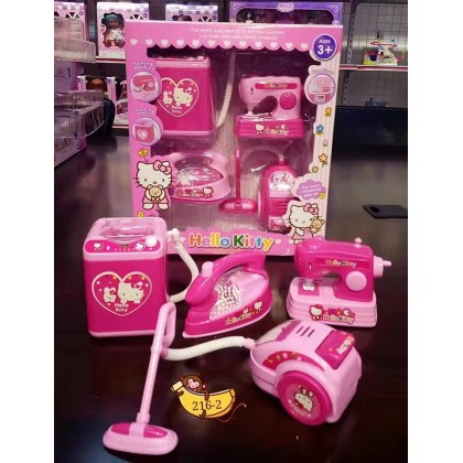 [READY STOCK] 216-2 4IN1 HELLO KITTY TOY SET WITH SOUND/LIGHT [Housekeeping Set]