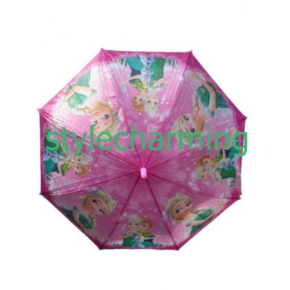 Kids Cartoon Long Umbrella Frozen Elsa Anna