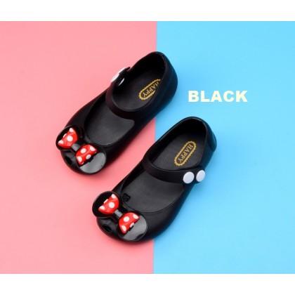 Kids Cartoon Jelly Shoes Sandal -Cute Polkadot Bow Tie