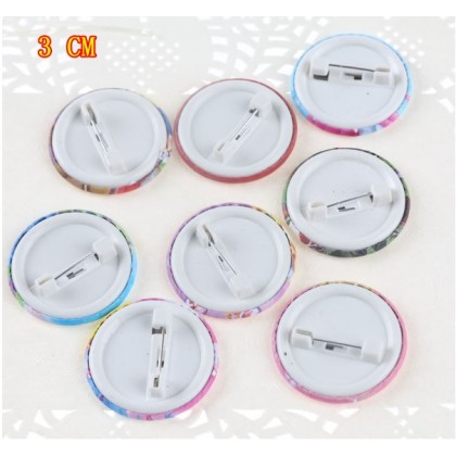 [Ready Stock] 3CM Cartoon Badge Brooch - SMILEY