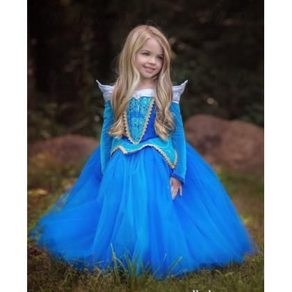 Disney Princess Aurora Of Sleeping Beauty Elegance Dress_BLUE