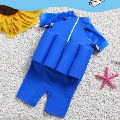 [READY STOCK] Boy/Girl Kids Floating Swimming Suit Baju Renang Swimwear + Cap - BATMAN