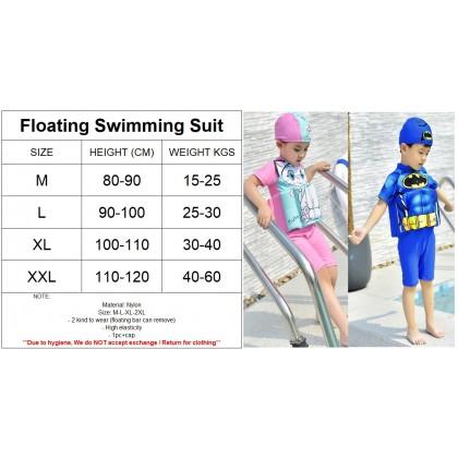 [READY STOCK] Boy/Girl Kids Floating Swimming Suit Baju Renang Swimwear + Cap - CARS