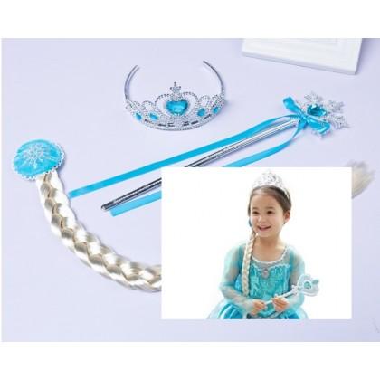 [READY STOCK] Frozen Elsa Crown Set 3in1 _Blue
