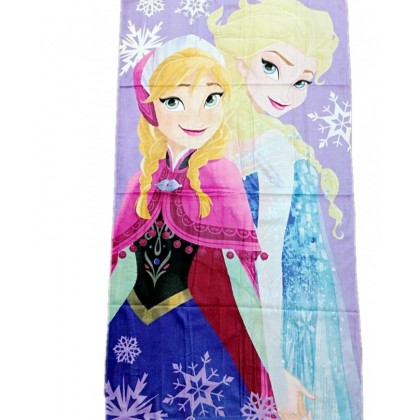 Cotton Beach Towel Big Size 75*150cm - Frozen Anna Elsa