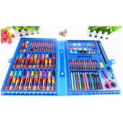 <READY STOCK> 86 pieces Children Color Pencil Drawing Tool Painting Set Crayon Watercolor DISNEY GIFTSET - HELLO KITTY, MICKEY, PRINCESS, SPIDERMAN