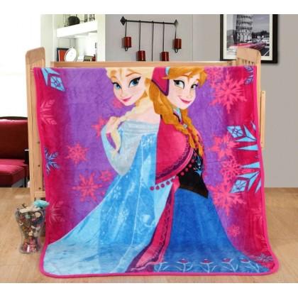 [READY STOCK] Frozen Elsa Anna Coral Fleece Blanket Selimut Bigger Size 1.5x2M