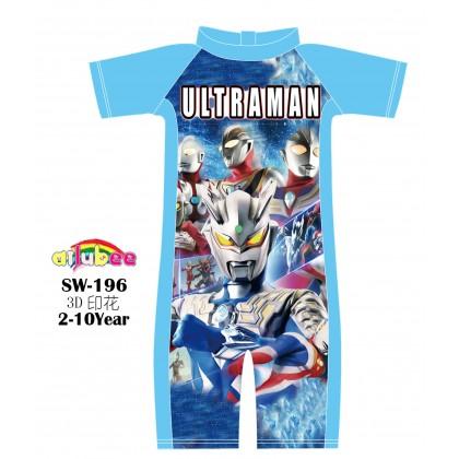 [READY STOCK] Ailubee short Sleeves Swimming Suit Baju Renang SW196 ULTRAMAN