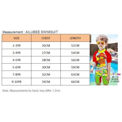 [READY STOCK] Ailubee short Sleeves Swimming Suit Baju Renang SW197 SPIDERMAN