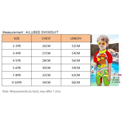 [READY STOCK] Ailubee short Sleeves Swimming Suit Baju Renang SW199 MARVEL HEROES AVENGERS