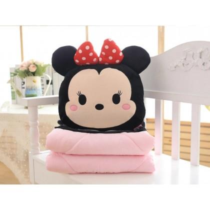 [READY STOCK] Mickey Minnie Blanket Pillow