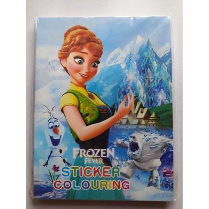 21x14CM Stickers Coloring Colouring Books Buku Mewarna