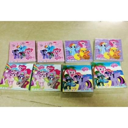27x20.5CM Pony Stickers Coloring Colouring Books Buku Mewarna