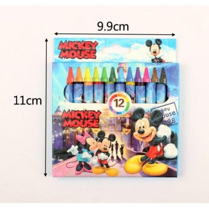 12pcs Color Crayon Disney cartoon design