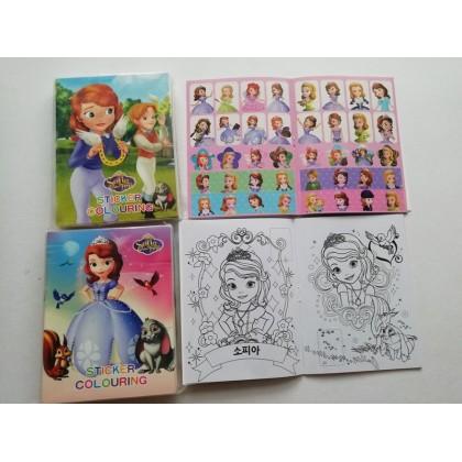 10.5CM X 14CM SOFIA Sticker Coloring Colouring Books Buku Mewarna