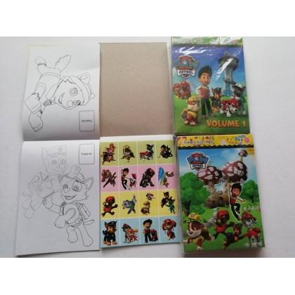 14CM X 10.5CM Pony Paw Patrol Peppa Pig Sticker Coloring Colouring Books Buku Mewarna