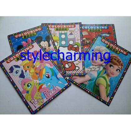 Colouring Book B5 My little Pony, Frozen Elsa Anna, Hello Kitty, Mickey, Cars, Princess, Spiderman