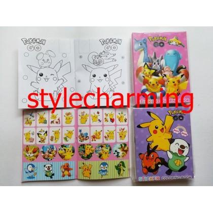 10.5CM X 14CM POKEMON PIKACHU Sticker Coloring Colouring Books Buku Mewarna