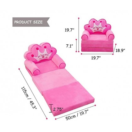 [READY STOCK] Great Quality Cartoon Kid Foldable Sofa 2 layer 3 layer Prince Princess Collection