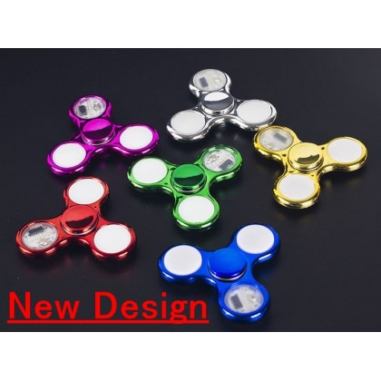LED Fidget Spinner Beyblade with colourful Light & Pattern