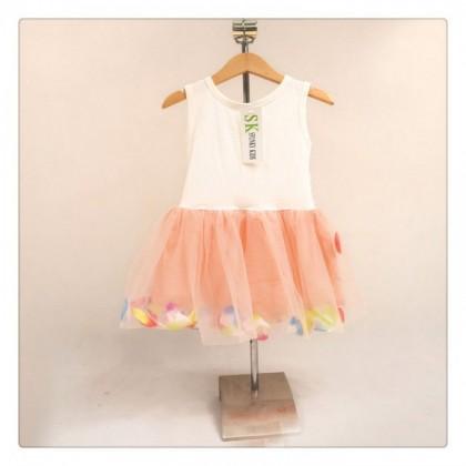 Girl Dress 77019 (Peach)