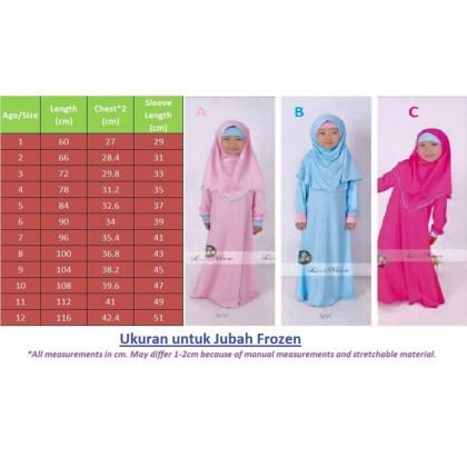 Frozen Jubah Dress - Blue