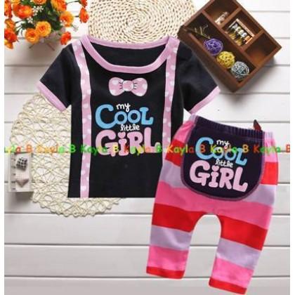 Baby Girl Set Top+Pant Cool Girl