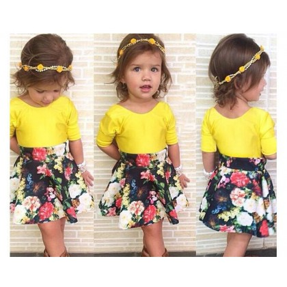 Girl Set Top+Skirt SA4224