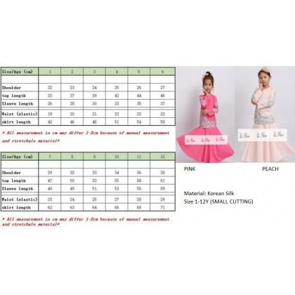Kurung Moden (L NICE) PINK SIZE 7-12Y