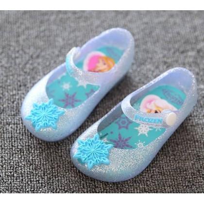 Jelly Shoes Sandal Frozen Elsa Blue