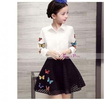 KOREA PINK Dress 2pcs K0385