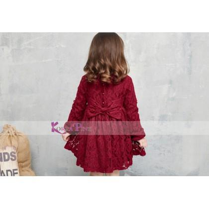 KOREA PINK Dress K0397 Maroon